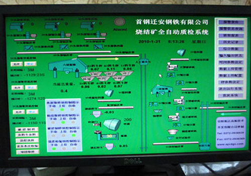 TOP SAMPLER coal analytics operation system interface