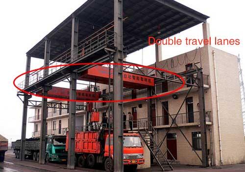 Double travel lane auger sampling system
